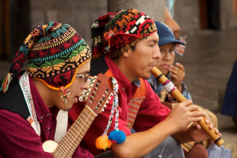 Andean Music Ensemble, Photo credit: Wikimedia Commons