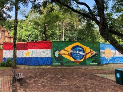 Flag Artwork in Brazil - Courtesy of Rebecca Spector