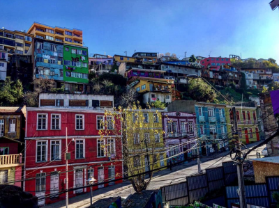 Colorful buildings along the hill. Photo credit: Michael McKee.