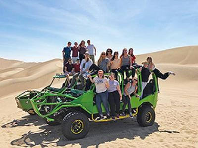 OSU Students in Huacachina, Peru. Photo Credit: Natalie Cipriano.