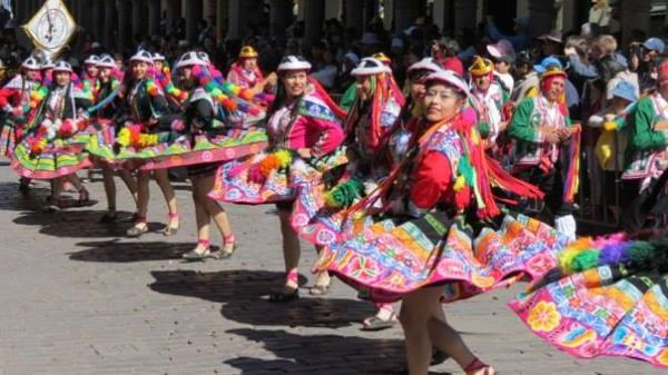Traditional Dancers in the city of Cuzco, Peru. Photo credit, Devin Grammon