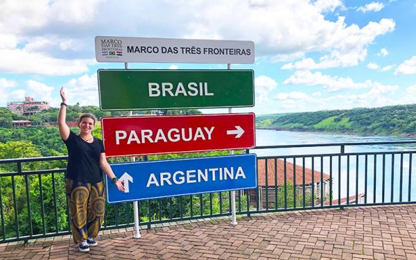 Marco das tres fronteiras in Brazil - Photo courtesy of Rebecca Spector